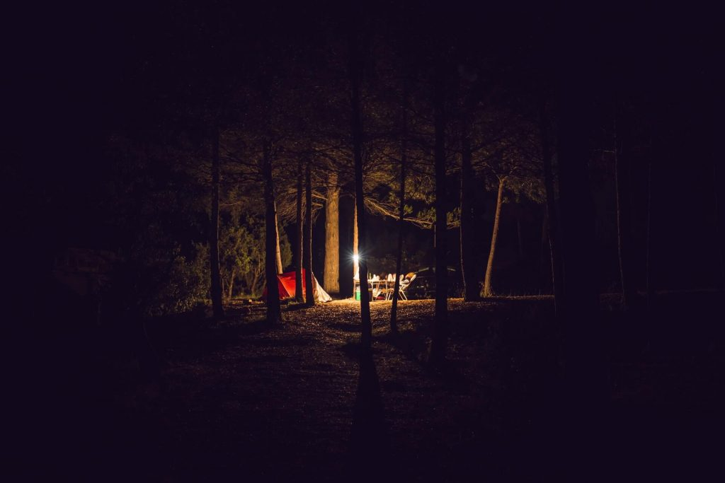 Camping Light in the darkness
